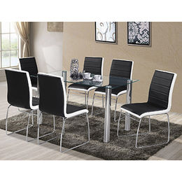 2016 new style dining table set, 1 table and 6 chairs (FDT-D18) from Langfang Peiyao Trading Co.,Ltd