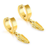 China 2018 New Fashionable Three Colors Design Titanium Earrings for men