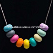 China Silicone bead necklace teether