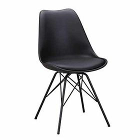 PU soft packed steel frame chairs with metal legs from Zhilang Furniture Co.,Ltd