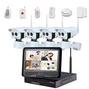 China Plug-and-Play Wireless CCTV Camera Kit with Alarm Sensor and Pan Tilt Infrared Outdoor Wi-Fi Camera
