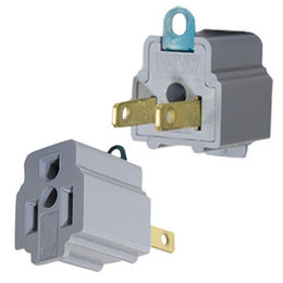China AC Outlet Adapter 3 Prong Convert to 2 Blade Grounding Cheater Plug