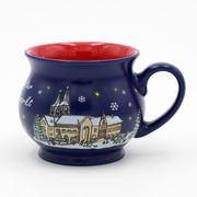 China Custom Printed Logo Ceramic Christmas Mugs