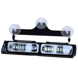 Red/Blue/White Police Emergency LED Dash Lights, 12-24V, Tow Truck/Plow/Police/Fire/EMS Vehicles from Busybees Technology Ltd.