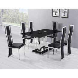 Luxury stainless steel dining table and chair sets from Langfang Peiyao Trading Co.,Ltd