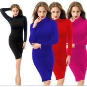 7548239028 Wholesale Winter Soft Cotton Slim Dress Skinny Sexy Club