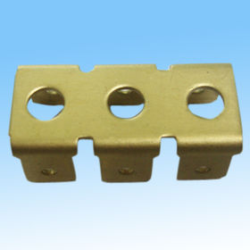 Metal stamping part, made of brass, used for electronic components, OEM/ODM orders are welcome from HLC Metal Parts Ltd