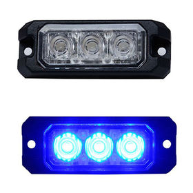 Super-slim LED Headlight, Grill Light, 3-piece LED, Amber/Green/Red/Blue/White LED, 12-24V, IP67 from Busybees Technology Ltd.