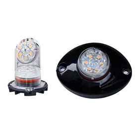 Hide-away LED Light/Grill Light, 9-piece LED, Amber/Green/Red/Blue/White LED, 12-24V, IP67 from Busybees Technology Ltd.