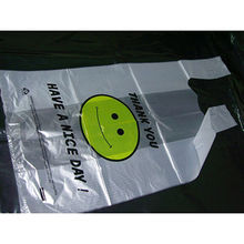 China HDPE Plastic Printing T Shirt Bag
