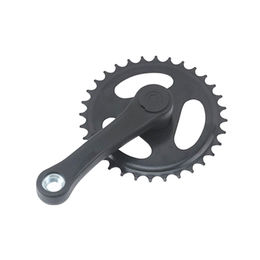 Bicycle Chainwheel, chainwheel with color flap,36,34,38T/170mm crank with color cover from Hebei IKIA Industry & Trade Co. Ltd