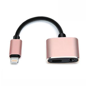 Audio adapter for iPhone, IOS 11 charging & earphone TRRS metal shell from Changzhou AVI Electronic Co. Ltd