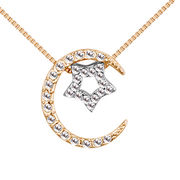 2018 New Fashion star and moon Design Austrian Crystal Necklace for Women from Wenzhou Success Group Ekstar Co. Ltd