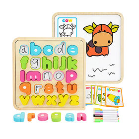 China Educational wooden kids puzzle with abc letters W14B087