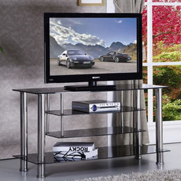TV Stands, Tempered-glass and Stainless Steel from Langfang Peiyao Trading Co.,Ltd