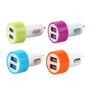 5V 4.8A in-car charger with extra USB in-car charger for iPad from Telephone Est Co. Ltd