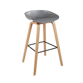 Plastic chairs bar stools with bent wood T871 from Zhilang Furniture Co.,Ltd