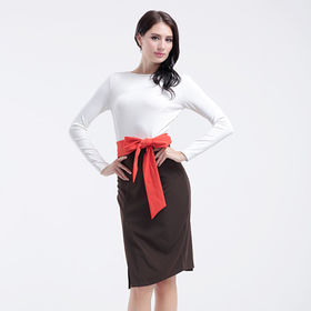 China Women's dress, made of 95% polyester and 5% spandex