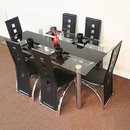 Glass Top/Metal Frame Dining Table from Langfang Peiyao Trading Co.,Ltd
