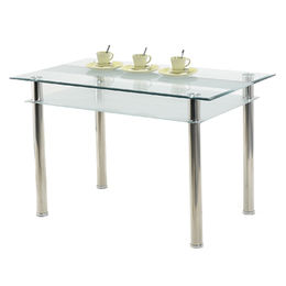 Modern, cheap tempered glass, dining table and chair from Langfang Peiyao Trading Co.,Ltd