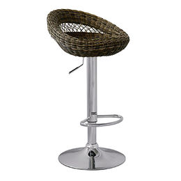 Wholesale rattan bar stool with chromed frame from Langfang Peiyao Trading Co.,Ltd