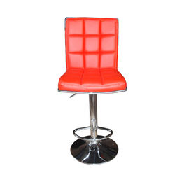 Bank and hotel bar counter PU seat with chromed base and footrest bar stool(JH-D150-2) from Langfang Peiyao Trading Co.,Ltd