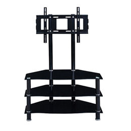 High quality glass TV stand with bracket from Langfang Peiyao Trading Co.,Ltd