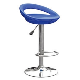 PVC seat with chromed base and footrest bar chair(JH-D121-1) from Langfang Peiyao Trading Co.,Ltd
