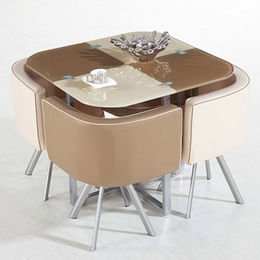 Space saving dining table set 1 table and 4 chairs(FDT-D33) from Langfang Peiyao Trading Co.,Ltd
