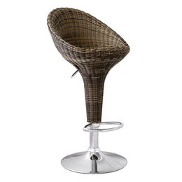 Rattan wicker bar stool with metal frame from Langfang Peiyao Trading Co.,Ltd