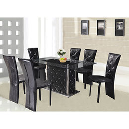 Hot selling high grade dining table,MDF frame with tempered glass table top from Langfang Peiyao Trading Co.,Ltd