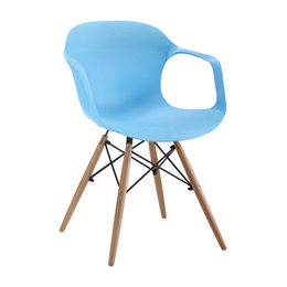 PP chair with wooden leg and armrest seat from Langfang Peiyao Trading Co.,Ltd