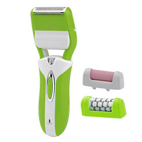 Rechargeable 3-in-1 ladies' epilator set with epilator, shaver and callus remover from Anionte International(Zhejiang) Co. Ltd