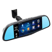 China Android 4.4 System Car Rearview Mirror Manual Car Camera HD DVR 1080P with GPS Navigation WiFi