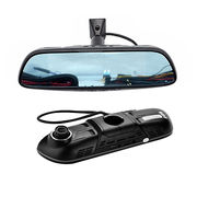 China Android system car dual cameras rear view mirror with GPS navigation dash cam