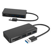 China USB 3.0 hub & card reader combos with 3 USB 3.0 ports, supporting SD/Micro SD