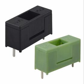 China Honyone PCB mounted plastic green fuse holder, 10A, 250V, 5x20mm