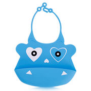 Silicone Baby Bibs, Water-resistant, Various Patterns Can be Customized from Dongguan Xinhongfa Silicone Products Co. Ltd