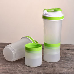 china blank protein shaker bottle with interlayer