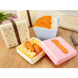Square double layer plastic lunch Fuzhou King Gifts Co. Ltd