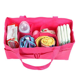 China Mummy Tote Bag Baby Portable Travel Diaper Nappy Storage Insert Organizer Bag Tote with Separate