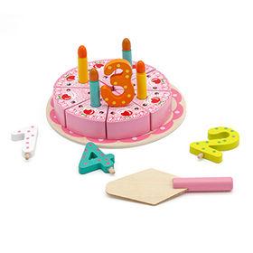 China Wonderful baby wooden cutting birthday cake toy