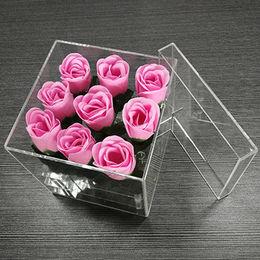 China Acrylic flower packing gift box