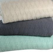 China 100% Cotton Diamond Blanket