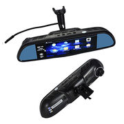 China Android system car dual cameras rear view mirror with Bluetooth dash cam