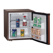 China 28L small bar fridge with glass door and solid door, lockable