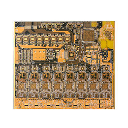China Yellow Soldermask PCB with Surface Finish of ENIG, 6 Layers, 1.80mm Thick