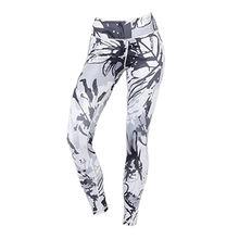 Nylon/spandex fitness sublimation custom yoga leggings from Dongguan Sunfire Sportswear Co., Ltd.