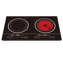 2 Zone Hybrid Ceramic Hob, Combination Hobs with Double Burners for Vietnam Market from Zhongshan Shunmin Electrical Appliance Co.,Ltd