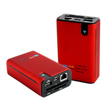 China All-in-one Wi-Fi router power bank wireless router card reader for CF/TF/SD/MS/U and hard disk